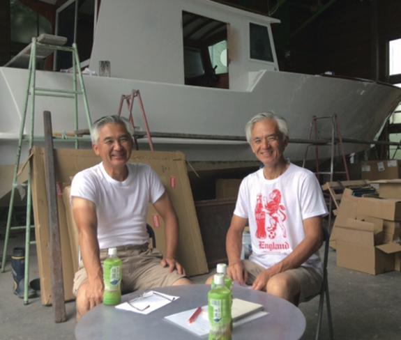 佐野ご兄弟と造船所風景