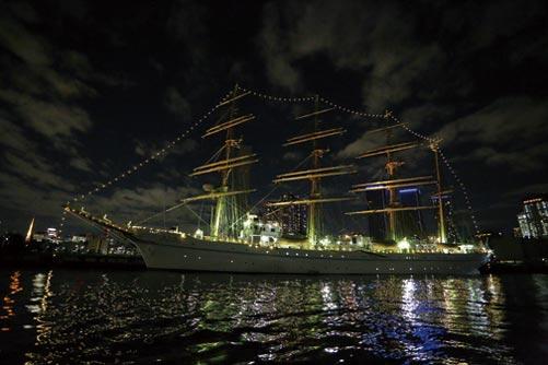 優美な姿の帆船
