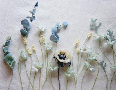 花摘みブローチ
