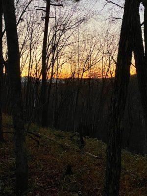 静かな落陽