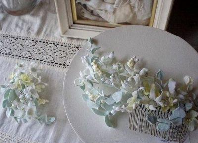 花嫁のための髪飾り